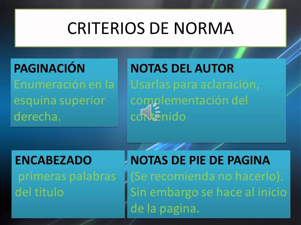 NORMAS APA Diapositivas VIDEO YouTube