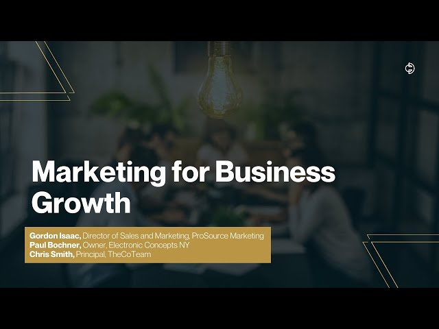 Connected Design Insider Talk: Marketing for Business Growth