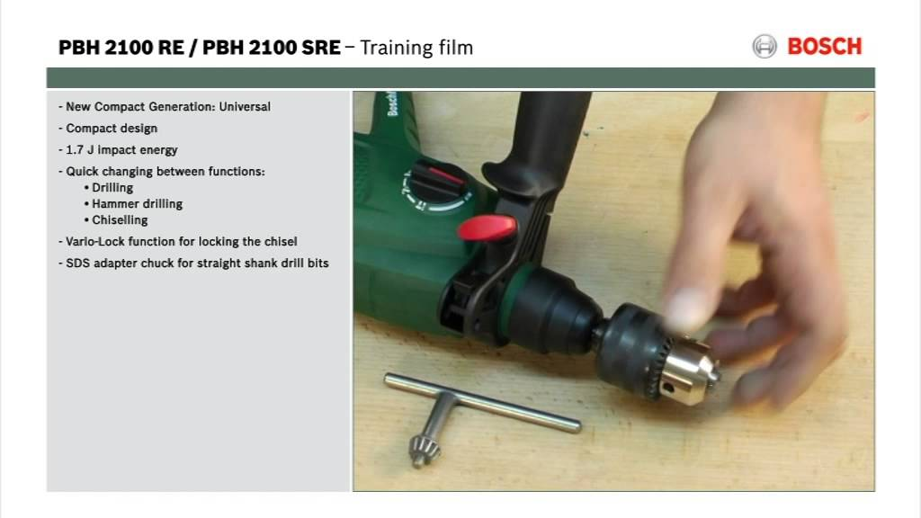 Extreem Features of: PBH 2100 RE/SRE Rotary Hammer Drill - YouTube RH29