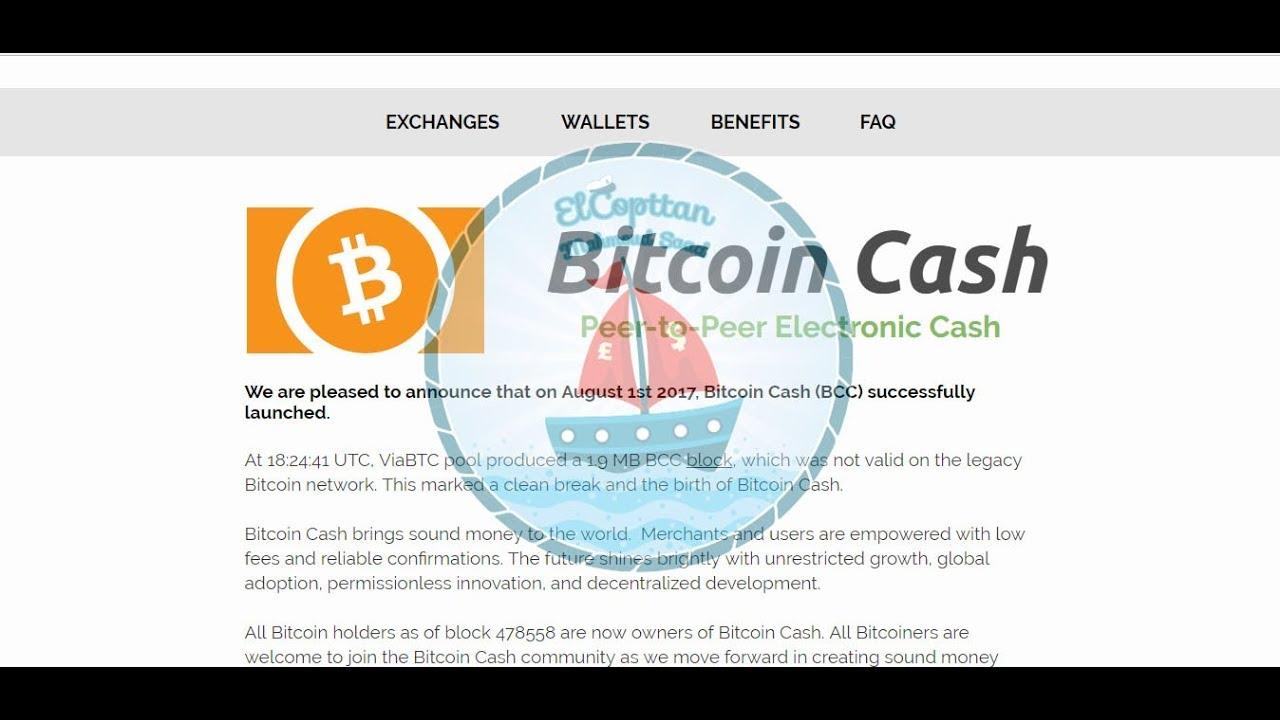 عملة Bitcoin Cash الجديدة وتفاصيل أكثر مهمة جدا 2017