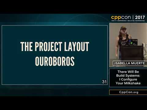 "CppCon 2017: Isabella Muerte ""There Will Be Build Systems: I Configure Your Milkshake"""