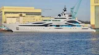 4K | Mega Yacht Project JUPITER - A Beauty or a Beast? - Lurssen Shipyard