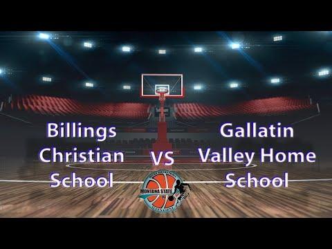 Billings Christian School vs Gallatin Valley Home School - MCAA State Tournament 2019 Boys #12