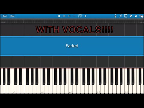 Alan Walker - Faded [synthesia] WITH VOCALS