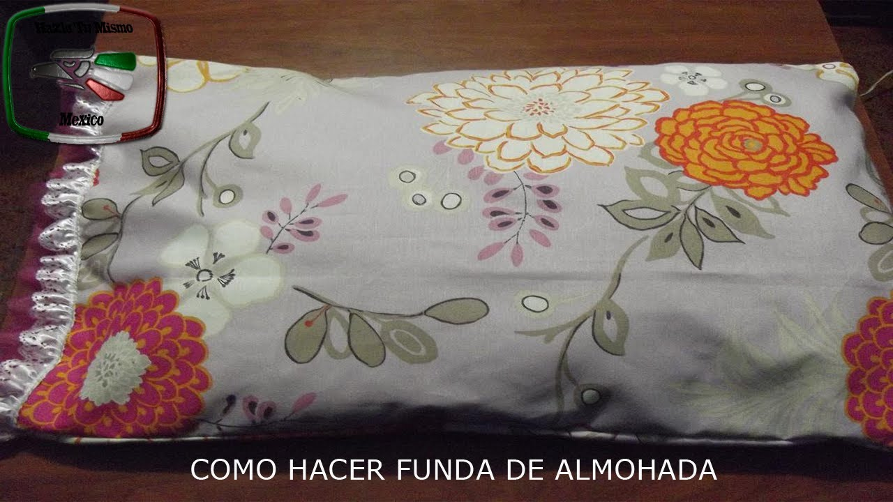 DIY: COMO HACER FUNDA DE ALMOHADA - YouTube