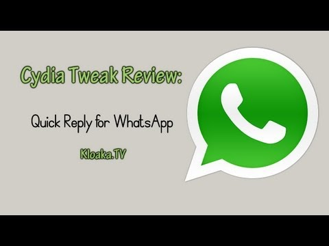 Quick Reply for WhatsApp Review 2013 - Cydia Jailbreak Tweak