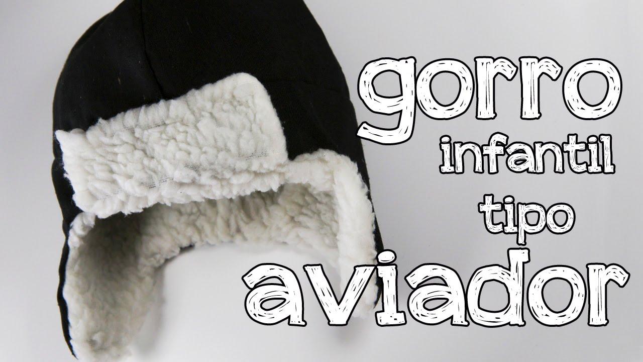 Cómo hacer un gorro infantil tipo aviador - YouTube