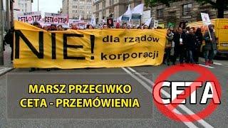 Protest przeciwko CETA w Warszawie - Przemówienia
