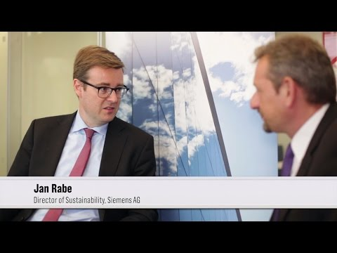 Jan Rabe, Siemens' Sustainability Director