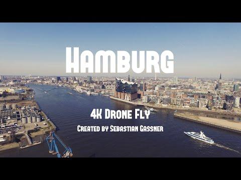 HAMBURG - 4K Drone Fly