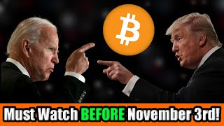 My Stock Market and Bitcoin Prediction for the 2020 US Election [Watch BEFORE November 3rd]