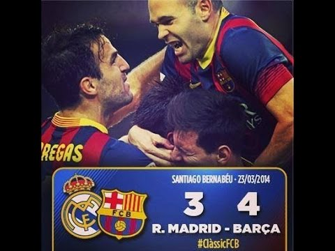 Real Madrid vs FC Barcelona La Liga 13/14 3-4 Full Match