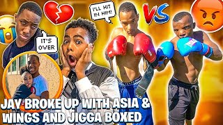 JAY BROKE UP WITH ASIA💔& WINGS AND JIGGA HAD A BOXING MATCH!! 🥊
