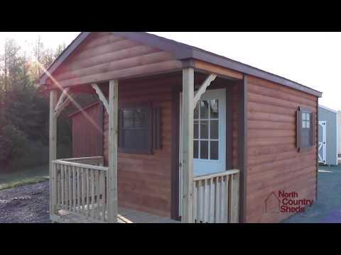 10' X 16' Log Cabin | Mini Cabin | Small Cottage | Cabin with Porch