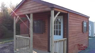 10' X 16' Log Cabin | Mini Cabin | Small Cottage | Cabin With Porch
