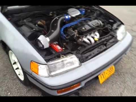 89 Honda CRX DX - YouTube