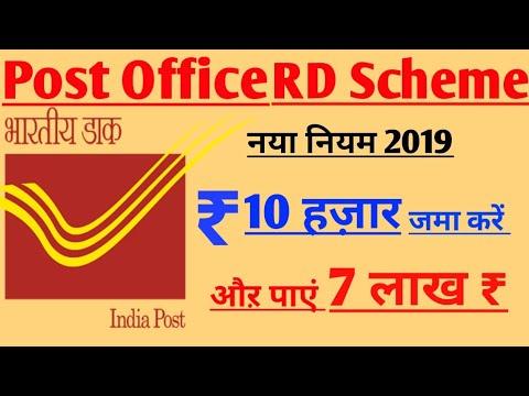 Post Office के RD प्लान के तहत आप मात्र ₹10000 जमा करके पा सकते हैं ₹ 7लाख की धनराशि ll बड़ा मौका ll