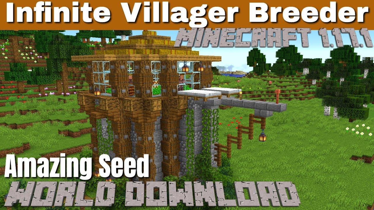 Villager Breeder for Minecraft 1.17.1 | Infinite Minecraft Villager Breeder (with World Download)