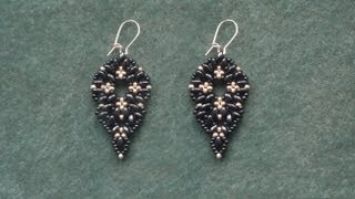 Beading4perfectionists : Superduo beads & miyuki seedbeads earrings beading tutorial