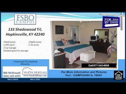 4 bedroom House for sale near Sinking Fork Elementary School in Hopkinsville KY
