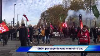 (Résumé vidéo) Manif Loi travail à Nantes du 16 novembre 2017