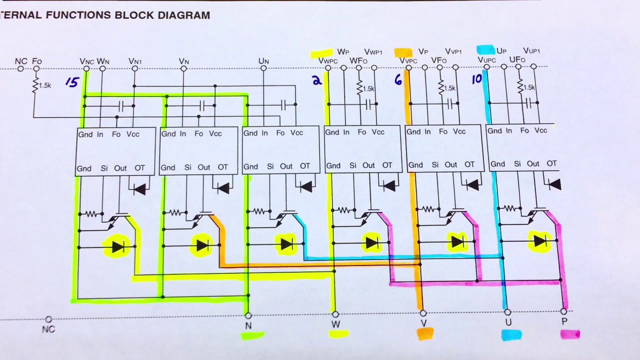 How to Test IGBT IPM with a Meter / DMM - Gate Junction & Diode Quick Igbt Inverter Schematic Block Diagram on