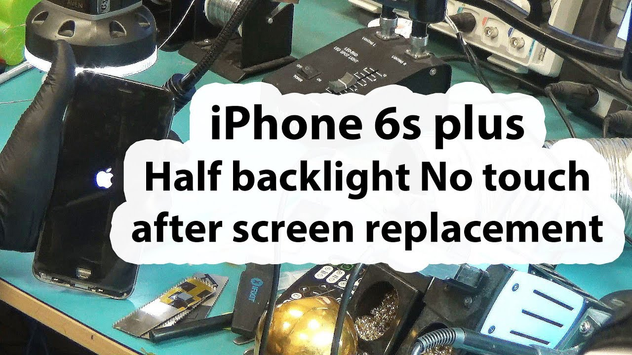 Half Of Iphone  Screen Not Working