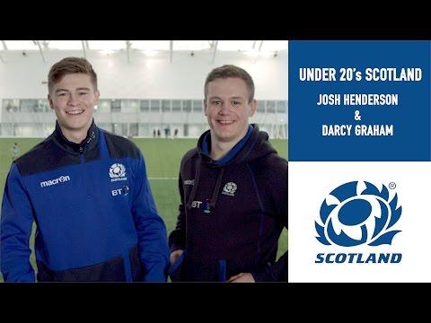 Teammates w/ Scotland's Josh Henderson & Darcy Graham | U20 Six Nations