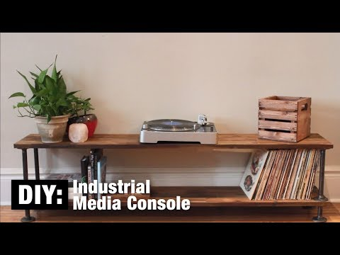 DIY: Industrial Media Console