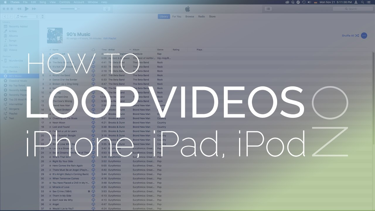 How To Get Ipad And Iphone To Loop Or Repeat Video Youtube