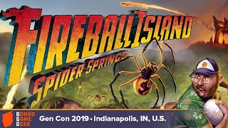 Fireball Island: Spider Springs game overview at Gen Con 2019
