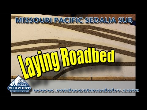 Building an N Scale Layout — Roadbed