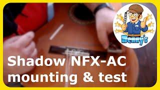 How to install the Shadow nanoflex NFX-AC + sound test