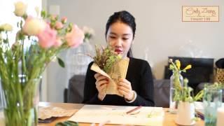 十塊錢diy藏有秘密的迷你花束 bouquet