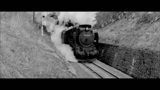 昭和の電車 ベテラン機関士と国鉄D51形蒸気機関車 雪原を行く