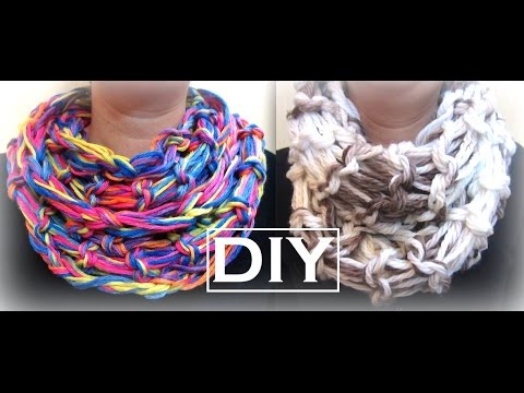 How to Make an Arm Knitting Infinity Scarf | DIY Christmas Gifts