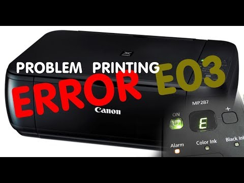 printer Canon Error E03 MP287 Paper Jammed Solutions |all type canon