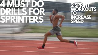 4 MUST DO Drills to get FASTER! Speed workout for sprinters! (HIIT)