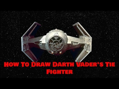 How To Draw Darth Vader's Tie Fighter