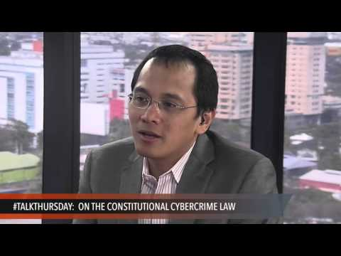 #TalkThursday: On the constitutional Cybercrime law