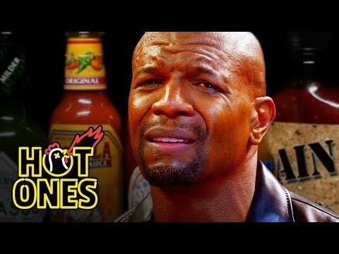 Terry Crews Hallucinates While Eating Spicy Wings  Hot Ones