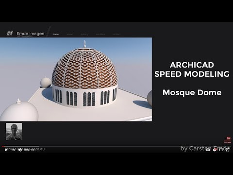 ARCHICAD How to model a Mosque Dome