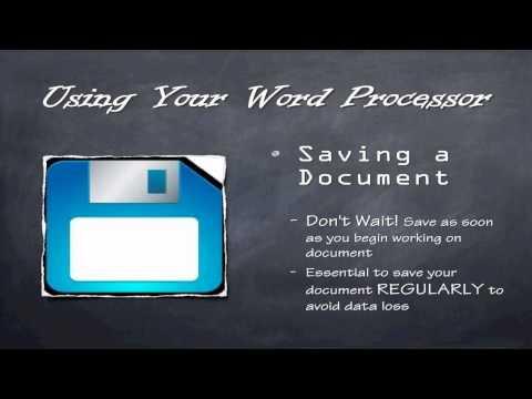 Word Processing - Word Basics