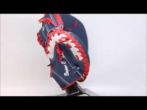 44 Pro Custom Baseball Glove Classic Series 2 Catchers Mitt Navy Red White