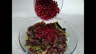 Один из вкуснейших салат в мире واحدة من أكثر لذيذ سلطة في العالم Salade de fête