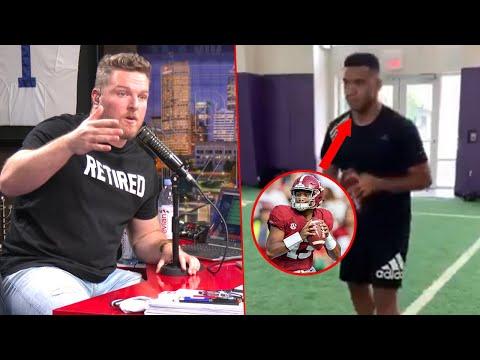 Pat McAfee Reacts To Tua Tagovailoa Throwing Video