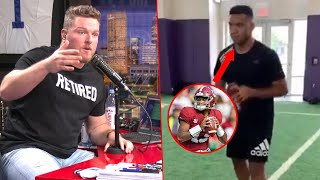 Pat McAfee Reacts To Tua Tagovailoa Throwing Video