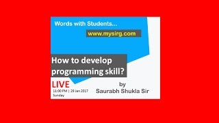 How to develop programming skill? LIVE Seminar