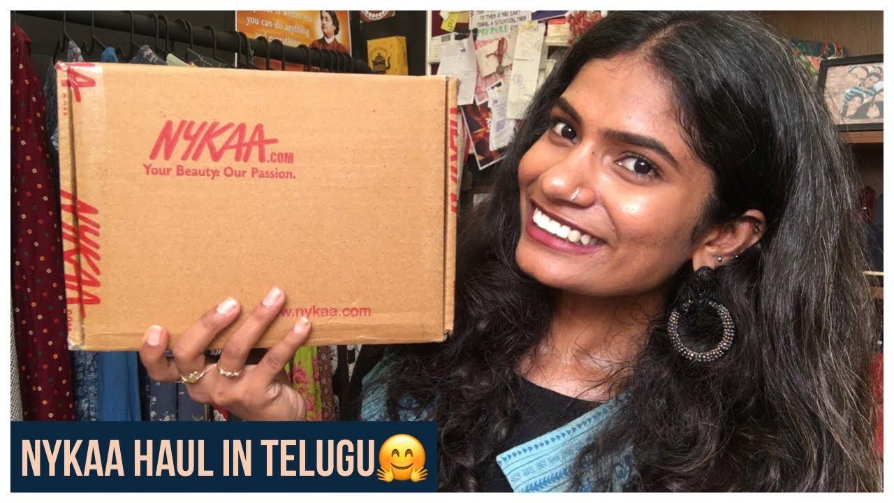 Nykaa Beauty And Skin care Haul in Telugu | Nykaa  Haul | Navya Varma | nayalooks