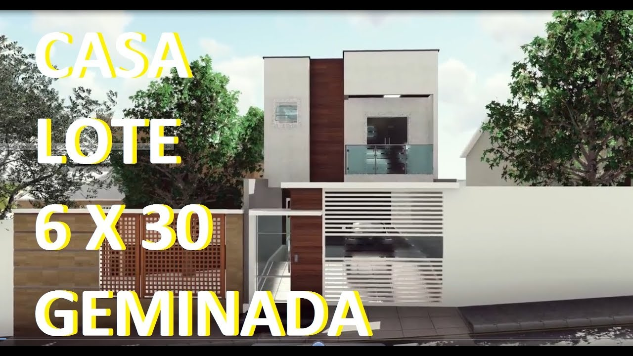 Casa Geminada 2 Andares Sobrado Lote 6 X 30 Youtube